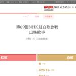 第69回NHK紅白歌合戦 出場歌手決定!! YOSHIKIもキンプリも!! 米津玄師さんは?