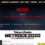 INABA/SALAS 「METROCK 2020」 出演決定!! 大阪・東京の2DAYS!!